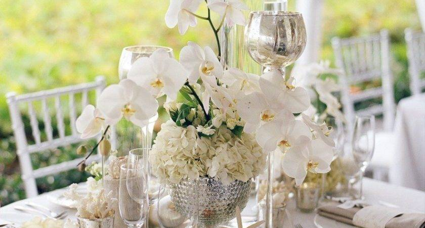 Orchid Wedding Stationery Floating Candle Centerpieces