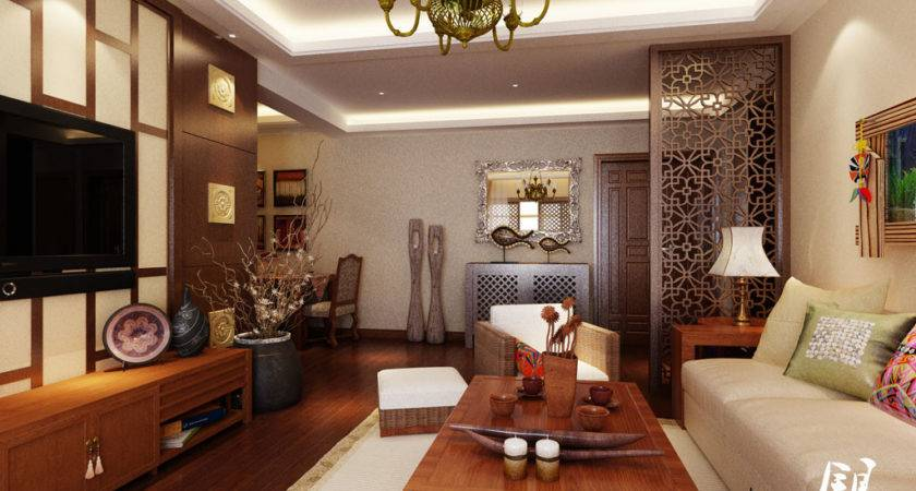 Oriental Asian Living Room Furniture White
