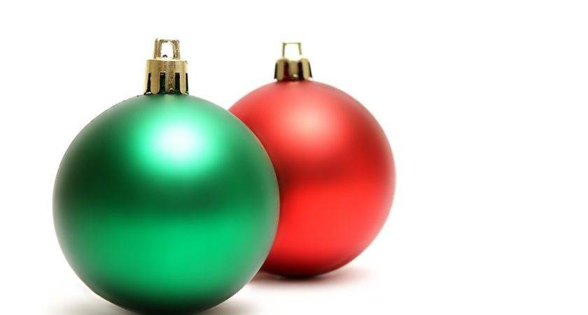 Ornaments Green Red Christmas