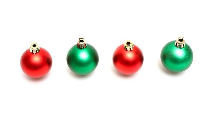 Ornaments Red Green Christmas