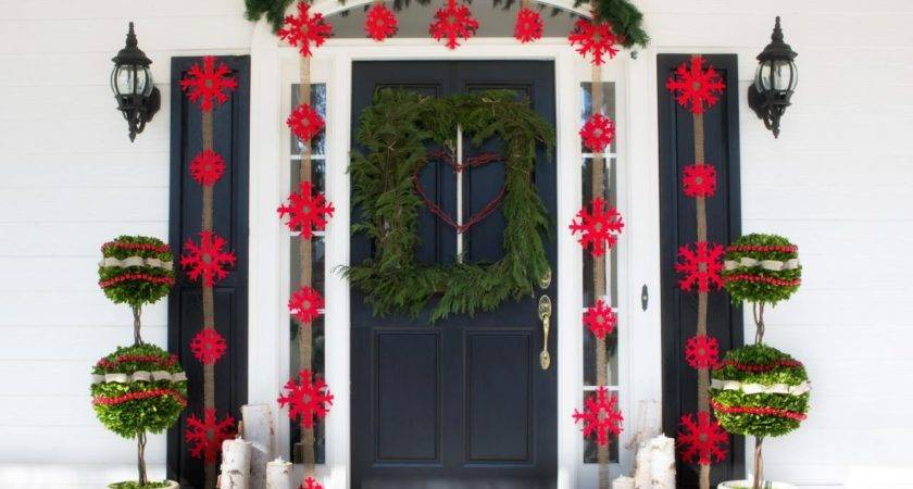 Outdoor Holiday Decorations Easy Crafts Homemade