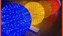 Outdoor Multi Color Hanging Led Lighted Christmas Ball