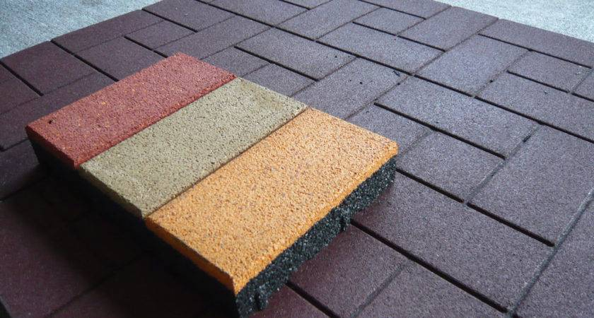 Outdoor Rubber Tiles Color Useful
