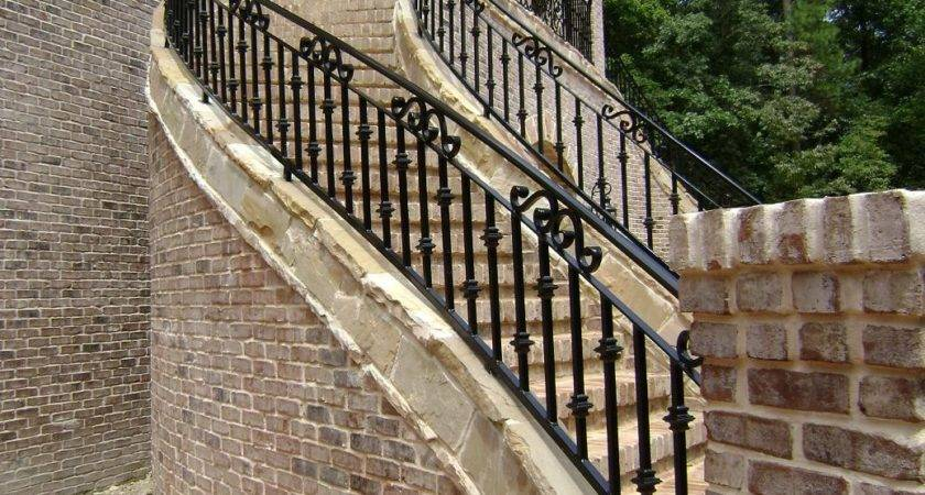 Outside Iron Rails Stairs