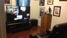 Outstanding Small Man Cave Media Room Ideas Brown Laminate