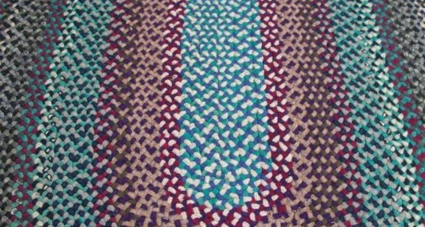 Oval Braided Area Rug Primary Colors Stdibs