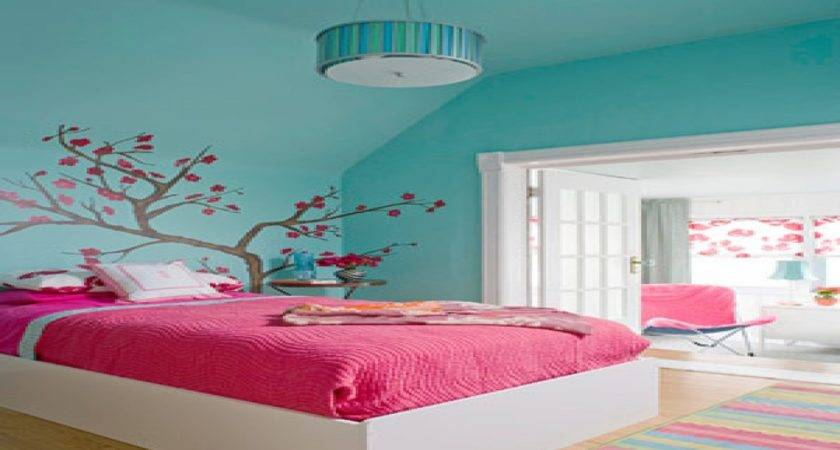Paint Colors Girls Bedroom Pink Blue