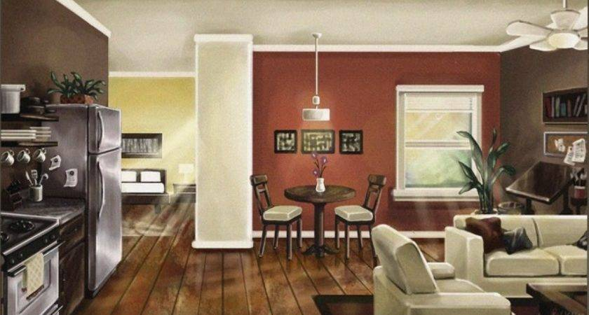 Paint Colors Open Concept Living Room Kitchen