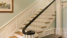 Painted Banister Ideas Staircase Contemporary Grey