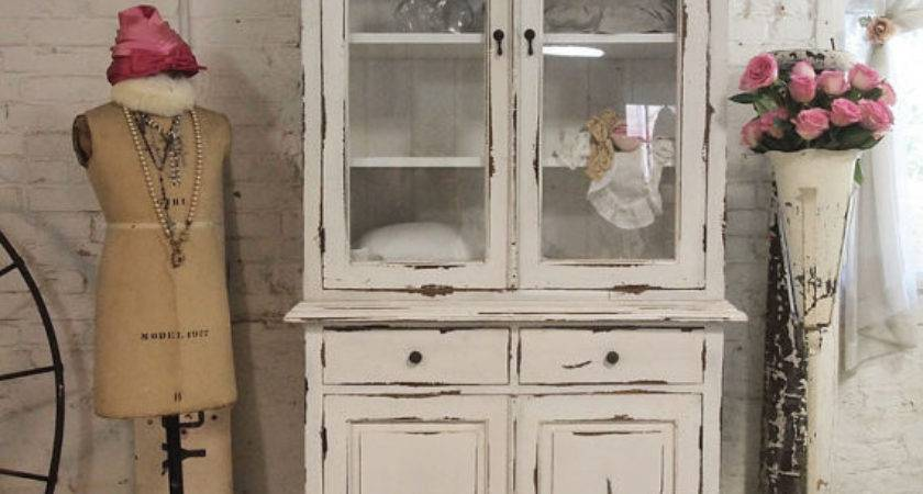 Painted Cottage Chic Shabby Farmhouse Cabinet