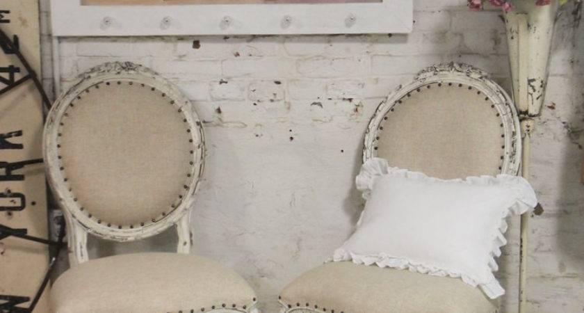 Painted Cottage Chic Shabby Farmhouse Chair Chr