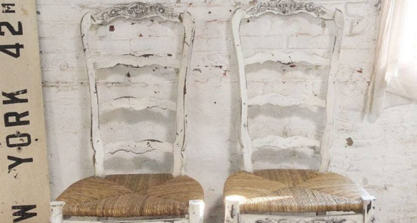 Painted Cottage Chic Shabby Farmhouse Chair Paintedcottages