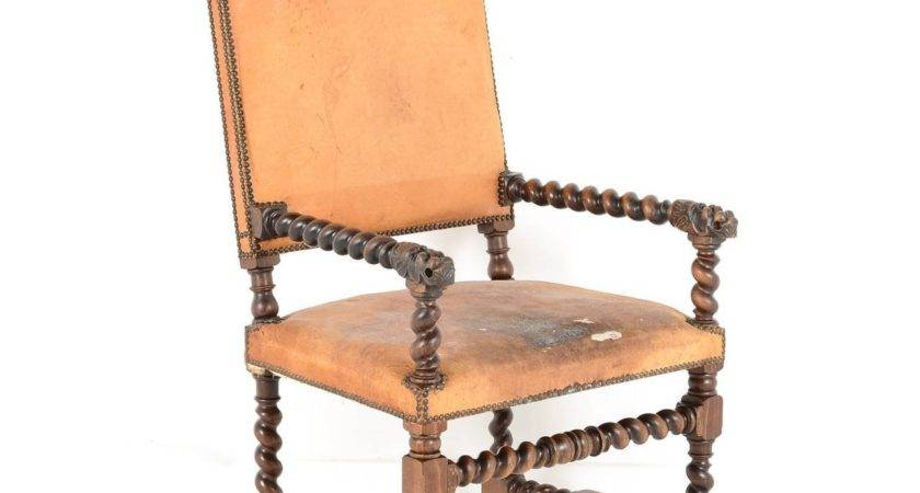 Pair French Antique Chateau Chairs Century