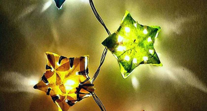 Paper Star Lantern String Lights Bohemian Decor Hipster