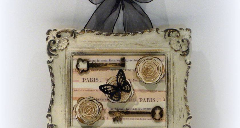 Paris Chic Wall Decor Country French Framed