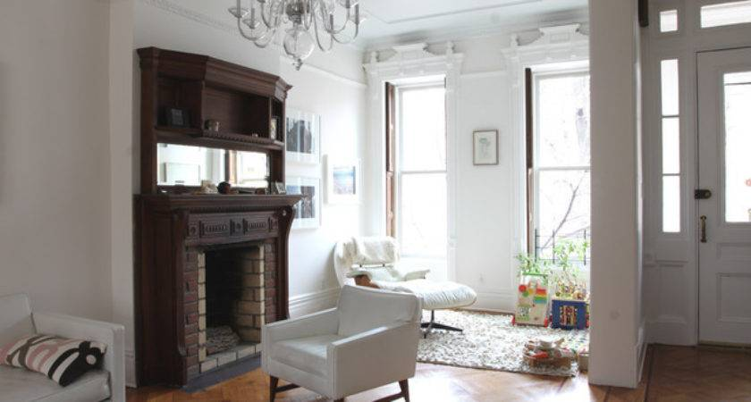 Park Slope Brownstone Contemporary Living Room New