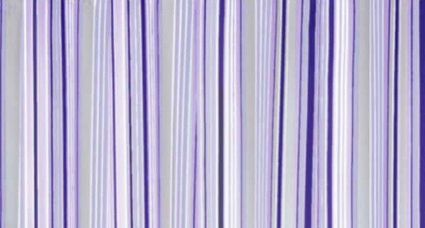 Park Smith Strings Stripe Watershed Shower Curtain