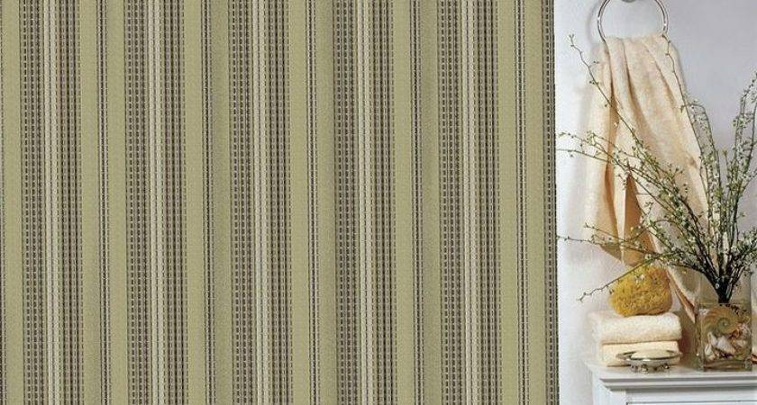 Park Smith Waffle Striped Shower Curtain Sold Out