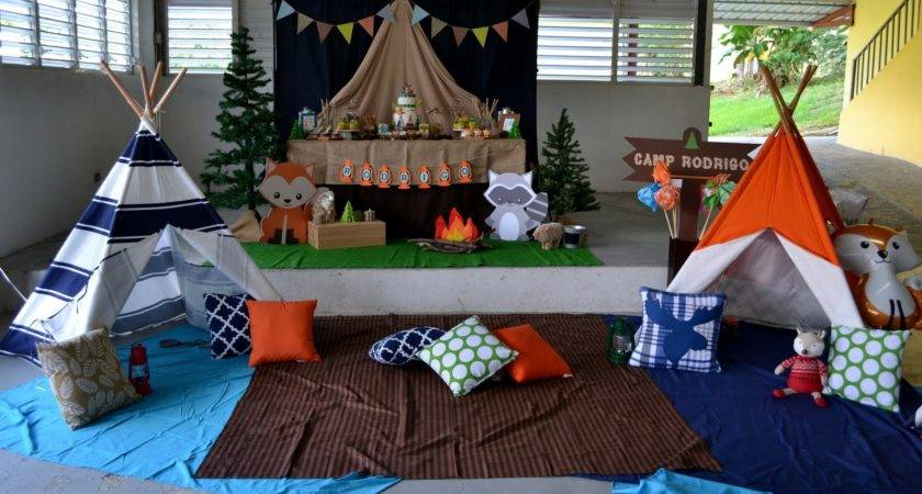 Partylicious Events Woodland Camping Birthday