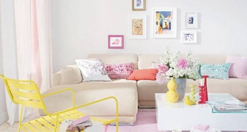 Pastel Living Rooms Small Space Ideas Home