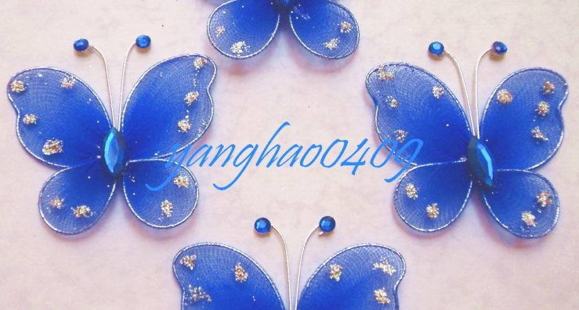 Pcs Blue Stocking Butterfly Wedding Decorations Ebay
