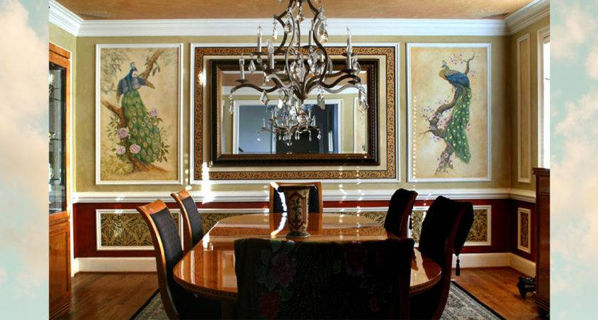 Peacock Dining Room Home Design Ideas