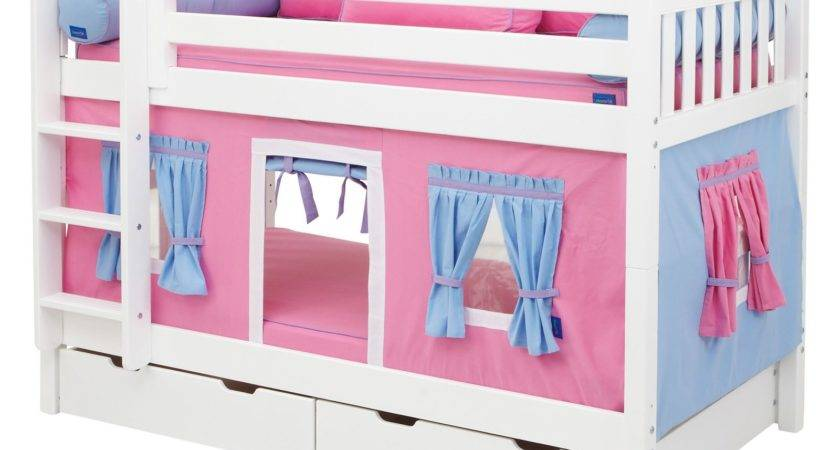 Perfect Children Girls Twin Bunk Bed Pink Blue