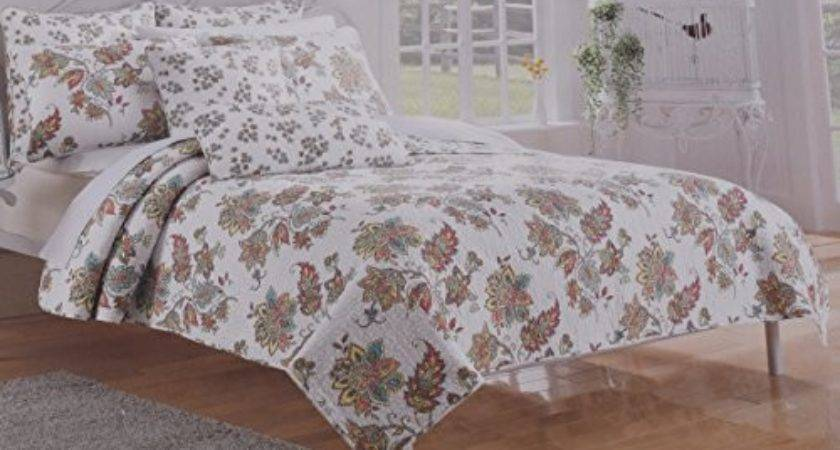 Piece Cynthia Rowley Colorful Floral Paisley Quilt