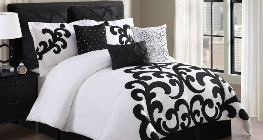 Piece Empress Cotton Black White Comforter Set