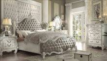 Piece Versailles Vintage Gray Bone White Bedroom Set