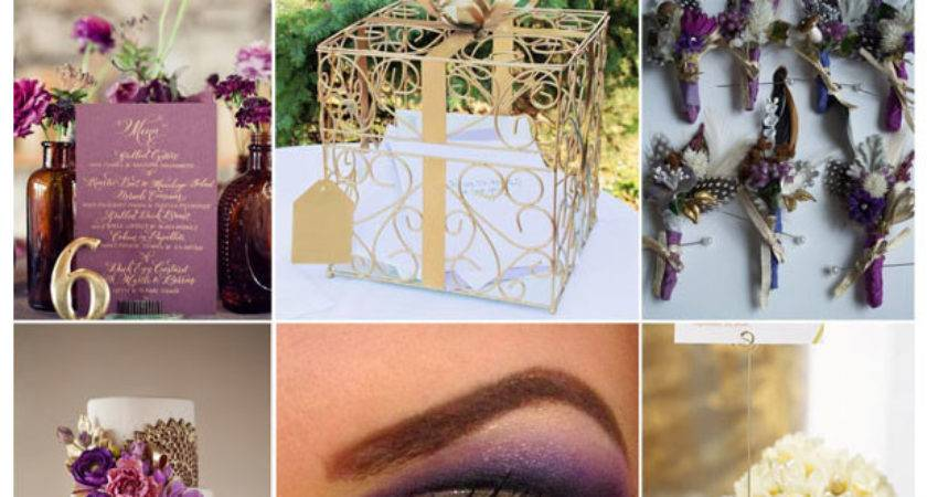 Pin Worthy Inspiration Purple Gold Color Combo
