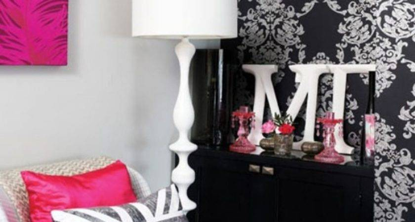 Pink Black Bedroom Ideas Home Decorating Excellence