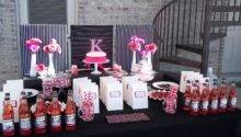 Pink Black Party Decorations Favors Ideas