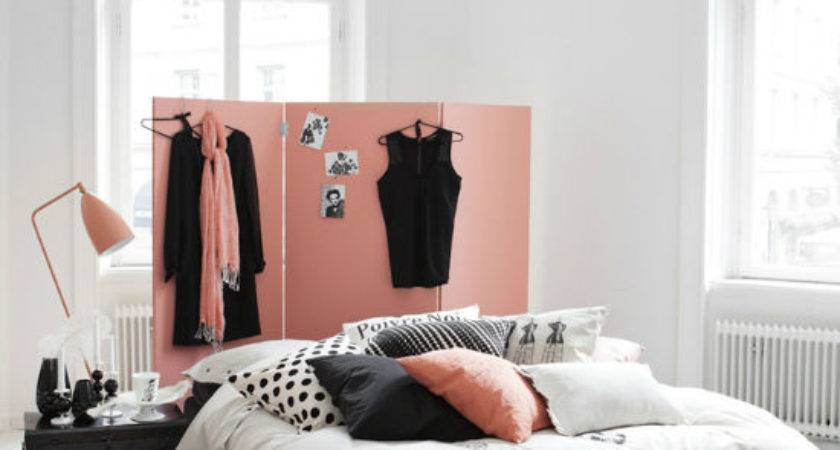 Pink Black White Bedroom