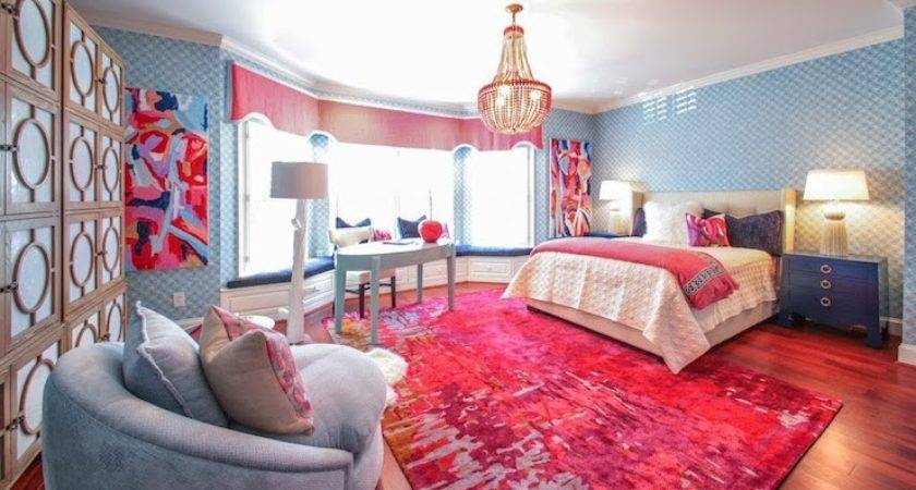 Pink Blue Bedroom Contemporary Girl Room Lucy