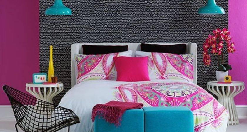 Pink Blue Bedroom Decorating Bright Colours