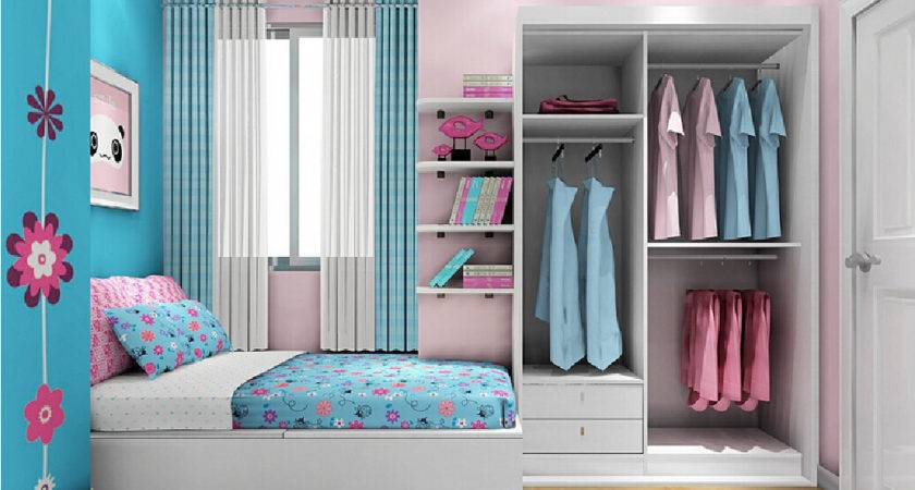 Pink Blue Bedroom Scheme