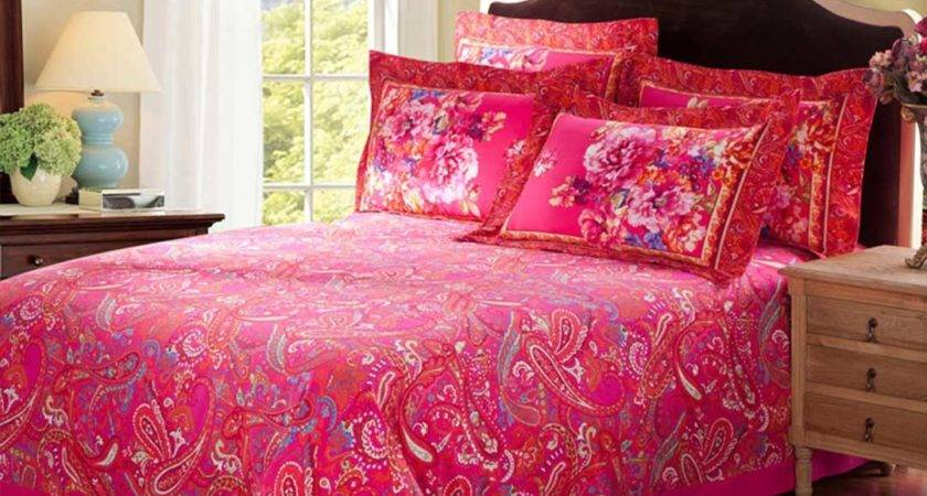 Pink Classic Floral Bedding Set Style Ebeddingsets