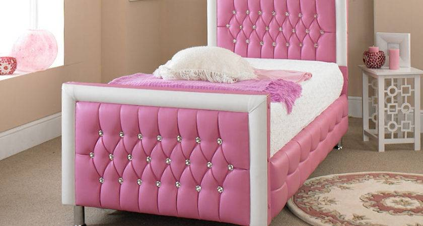 Pink Leather Bed New Exclusive Design Perfect Any