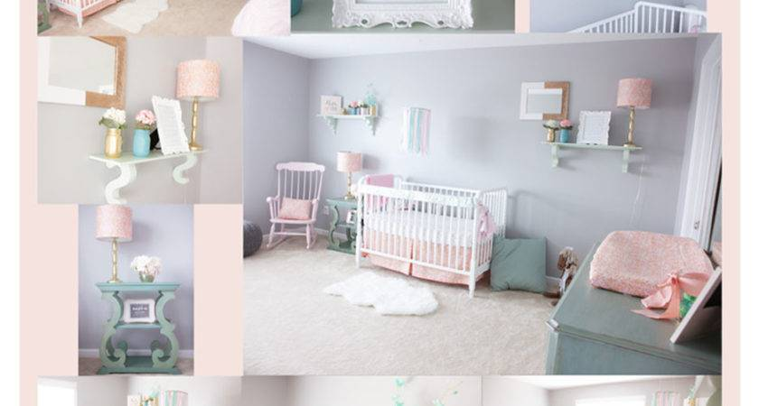 Pink Mint Gray Baby Girl Nursery Project