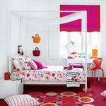 Pink Orange Girl Room Colourful Children Bedroom