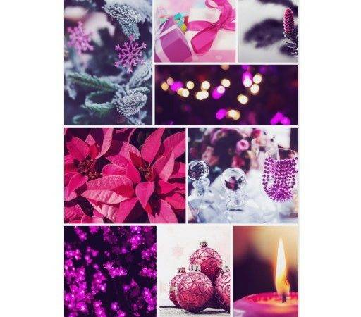 Pink Purple Christmas Card Zazzle