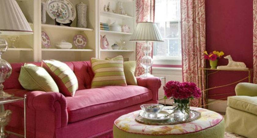 Pink Small Living Room Design Ideas