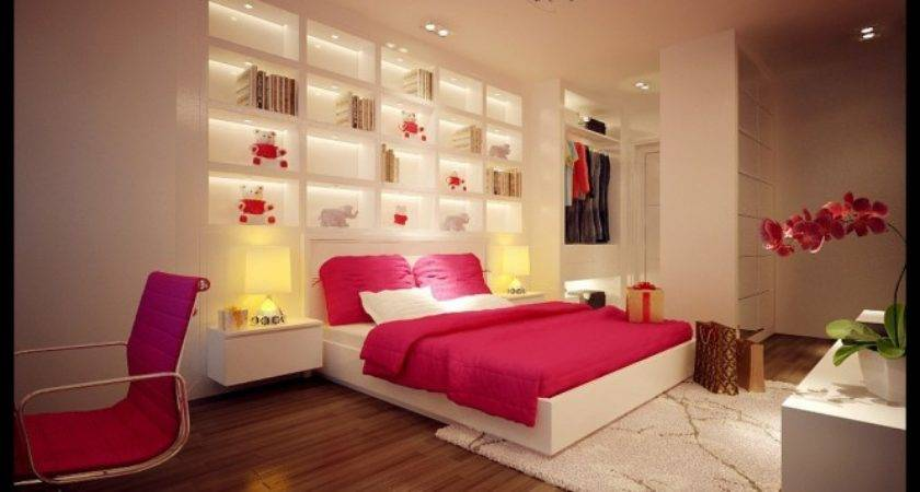 Pink White Bedroom Dream Home Interiors Open