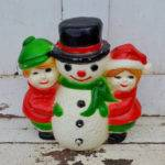 Plastic Snowman Kids Blow Mold Light Christmas Winter