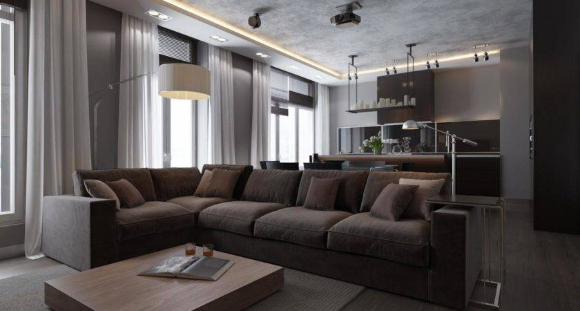 Plush Grey Sofa Interior Design Ideas