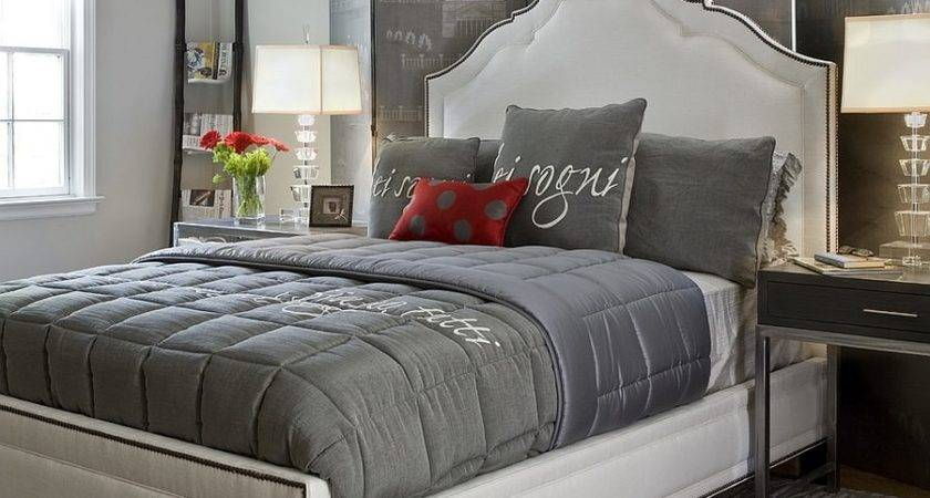 Polished Passion Dashing Bedrooms Red Gray