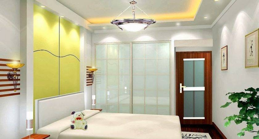 Pop False Ceiling Light Design Bedroom Interior