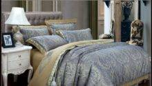 Popular Blue Gold Comforter Buy Cheap