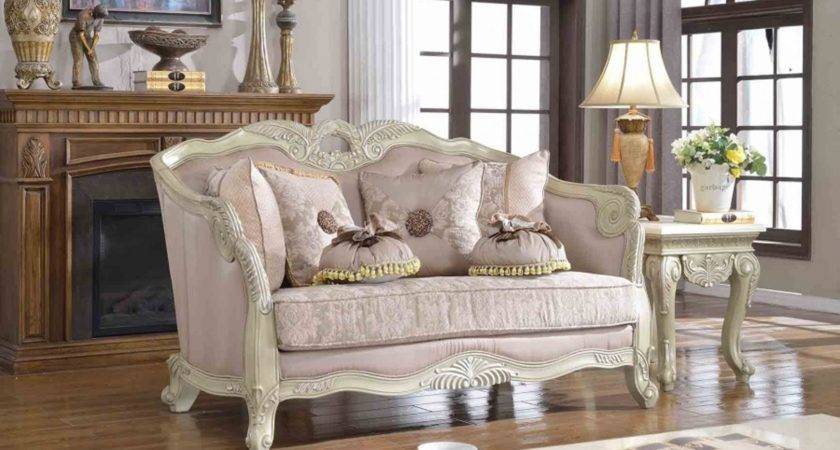 Positano Traditional Living Room Set Antique White
